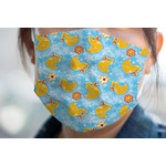Rubber Duckies & Flowers Face Mask Cover (Personalized)