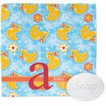 Rubber Duckies & Flowers Wash Cloth (Personalized)