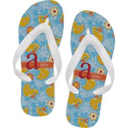 Rubber Duckies & Flowers Flip Flops (Personalized)