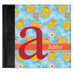 Rubber Duckies & Flowers Genuine Leather Baby Memory Book (Personalized)
