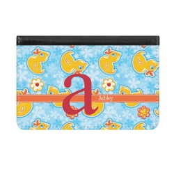 Rubber Duckies & Flowers Genuine Leather ID & Card Wallet - Slim Style (Personalized)