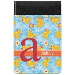 Rubber Duckies & Flowers Genuine Leather Small Memo Pad (Personalized)