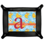Rubber Duckies & Flowers Genuine Leather Valet Tray (Personalized)