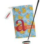 Rubber Duckies & Flowers Golf Towel Gift Set (Personalized)