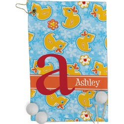 Rubber Duckies & Flowers Golf Towel - Full Print (Personalized)