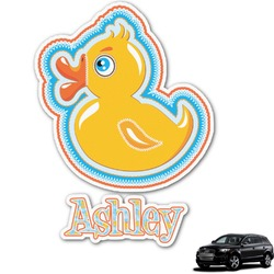 Rubber Duckies & Flowers Graphic Car Decal (Personalized)
