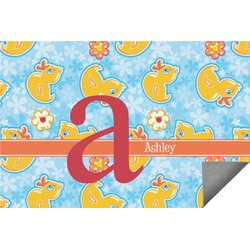 Rubber Duckies & Flowers Indoor / Outdoor Rug - 6'x9' (Personalized)