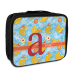 Rubber Duckies & Flowers Insulated Lunch Bag (Personalized)