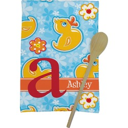 Rubber Duckies & Flowers Kitchen Towel - Full Print (Personalized)