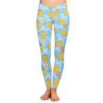 Rubber Duckies & Flowers Ladies Leggings (Personalized)