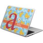 Rubber Duckies & Flowers Laptop Skin - Custom Sized (Personalized)