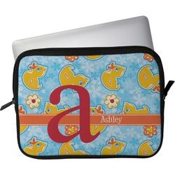 "Rubber Duckies & Flowers Laptop Sleeve / Case - 13"" (Personalized)"