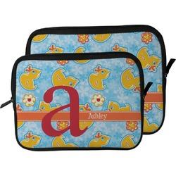 Rubber Duckies & Flowers Laptop Sleeve / Case (Personalized)
