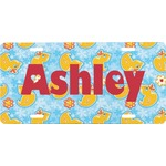 Rubber Duckies & Flowers Front License Plate (Personalized)