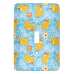 Rubber Duckies & Flowers Light Switch Covers (Personalized)