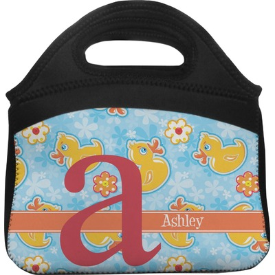 Rubber Duckies & Flowers Lunch Tote (Personalized)