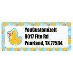Rubber Duckies & Flowers Return Address Labels (Personalized)