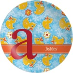 Rubber Duckies & Flowers Melamine Plate (Personalized)