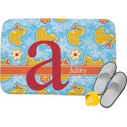 Rubber Duckies & Flowers Memory Foam Bath Mat (Personalized)