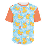 Rubber Duckies & Flowers Men's Crew T-Shirt (Personalized)