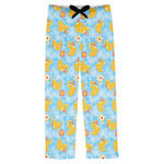 Rubber Duckies & Flowers Mens Pajama Pants (Personalized)