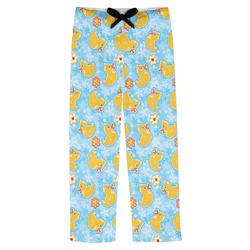 Rubber Duckies & Flowers Mens Pajama Pants (Personalized)