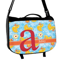 Rubber Duckies & Flowers Messenger Bag (Personalized)