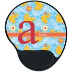 Rubber Duckies & Flowers Mouse Pad with Wrist Support