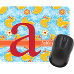Rubber Duckies & Flowers Rectangular Mouse Pad (Personalized)