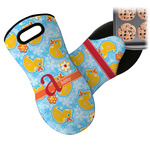 Rubber Duckies & Flowers Neoprene Oven Mitt (Personalized)