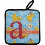 Rubber Duckies & Flowers Pot Holder (Personalized)