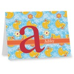 Rubber Duckies & Flowers Notecards (Personalized)