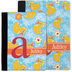 Rubber Duckies & Flowers Notebook Padfolio w/ Name and Initial