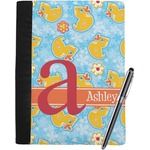 Rubber Duckies & Flowers Notebook Padfolio (Personalized)