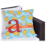 Rubber Duckies & Flowers Outdoor Pillow (Personalized)