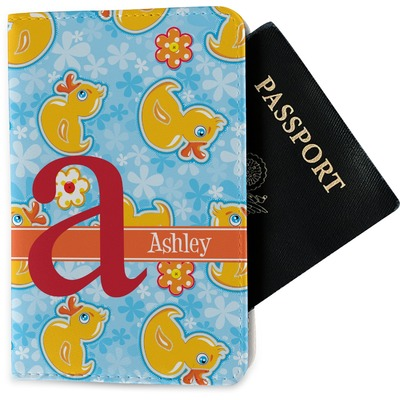Rubber Duckies & Flowers Passport Holder - Fabric (Personalized)