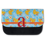 Rubber Duckies & Flowers Canvas Pencil Case w/ Name and Initial