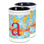 Rubber Duckies & Flowers Ceramic Pencil Holder - Large