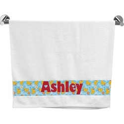 Rubber Duckies & Flowers Bath Towel (Personalized)