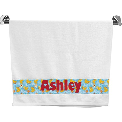 Rubber Duckies & Flowers Bath Towel (Personalized)