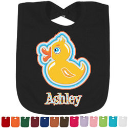 Rubber Duckies & Flowers Bib - Select Color (Personalized)