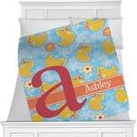 Rubber Duckies & Flowers Blanket (Personalized)