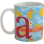 Rubber Duckies & Flowers Coffee Mug (Personalized)
