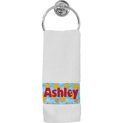Rubber Duckies & Flowers Hand Towel (Personalized)