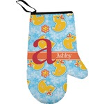 Rubber Duckies & Flowers Right Oven Mitt (Personalized)