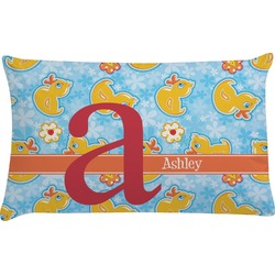 Rubber Duckies & Flowers Pillow Case (Personalized)