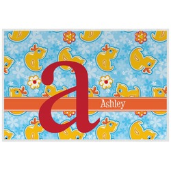 Rubber Duckies & Flowers Placemat (Laminated) (Personalized)