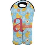 Rubber Duckies & Flowers Wine Tote Bag (2 Bottles) (Personalized)