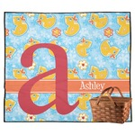 Rubber Duckies & Flowers Outdoor Picnic Blanket (Personalized)