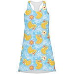 Rubber Duckies & Flowers Racerback Dress (Personalized)